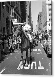 1954 World Series Champions Giants Parade Foghorn Style Acrylic Print by Retro Images Archive