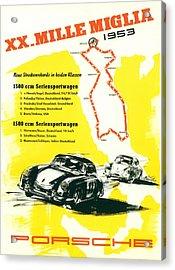 1954 Xx Mille Miglia Porsche Poster Acrylic Print