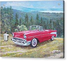 1955-1957 Chevrolet Bel Air Cabriolet Acrylic Print