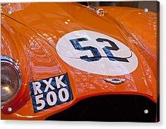 1955 Aston Martin Db3s Sports Racing Car Hood 2 Acrylic Print by Jill Reger
