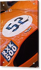 1955 Aston Martin Db3s Sports Racing Car Hood Acrylic Print by Jill Reger