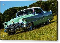 1955 Cadillac Coupe De Ville Acrylic Print by motography aka Phil Clark