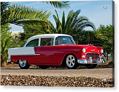 Acrylic Print featuring the photograph 1955 Chevrolet 210 by Jill Reger