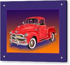1955 Chevrolet 3100 Pick Up Truck Acrylic Print by Jack Pumphrey