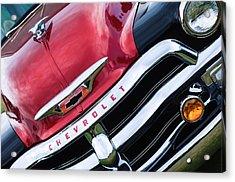 1955 Chevrolet 3100 Pickup Truck Grille Emblem Acrylic Print