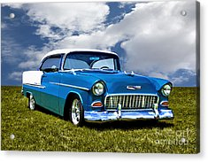 Acrylic Print featuring the photograph 1955 Chevrolet Bel Air by Adam Olsen