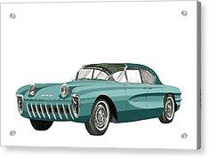 1955 Chevrolet Biscayne Concept Acrylic Print by Jack Pumphrey