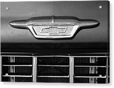 1955 Chevrolet Pickup Truck Emblem Acrylic Print by Jill Reger