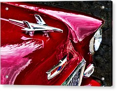 1955 Chevy Bel Air Hood Ornament Acrylic Print