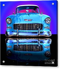 1955 Chevy Bel Air Acrylic Print by Jim Carrell