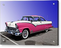 1955 Ford Crown Victoria Acrylic Print by Gianfranco Weiss