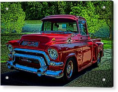 1955 Gmc 100 Pickup Truck Acrylic Print
