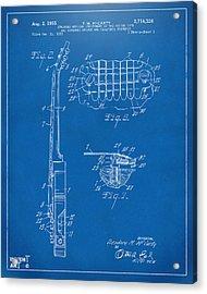 1955 Mccarty Gibson Les Paul Guitar Patent Artwork 2 Blueprint Acrylic Print