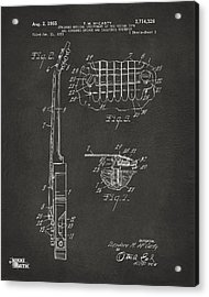 1955 Mccarty Gibson Les Paul Guitar Patent Artwork 2 - Gray Acrylic Print by Nikki Marie Smith