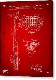 1955 Mccarty Gibson Les Paul Guitar Patent Artwork 2 Red Acrylic Print