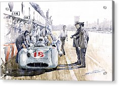 1955 Mercedes Benz W 196 Str Stirling Moss Italian Gp Monza Acrylic Print