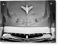 1955 Studebaker Champion Conestoga Custom Wagon Hood Ornament - Grille Emblem -0325bw Acrylic Print by Jill Reger
