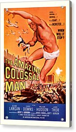 1955 The Amazing Colossal Man Vintage Movie Art Acrylic Print