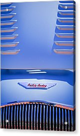 1956 Austin-healey 100m Bn2 'factory' Le Mans Competition Roadster Hood Emblem Acrylic Print by Jill Reger