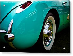 1956 Baby Blue Chevy Corvette Acrylic Print by David Patterson