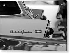 1956 Chevrolet Belair Nomad Rear End Emblem Acrylic Print by Jill Reger