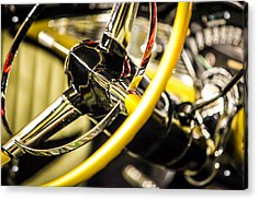 1956 Chevy Bel Air Steering Wheel  Acrylic Print by Shanna Gillette
