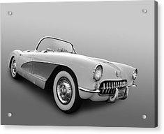 1956 Corvette Acrylic Print by Bill Dutting