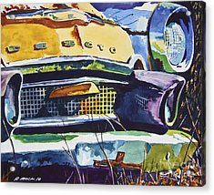1956 Desoto Abstract Acrylic Print by Rick Mock