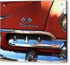 1956 Dodge 500 Series Photo 2b Acrylic Print by Anna Villarreal Garbis
