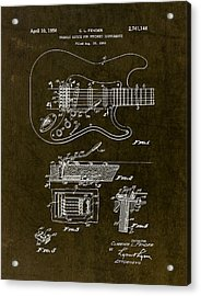 1956 Fender Tremolo Patent Drawing II Acrylic Print