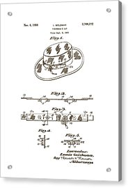 1956 Fisherman's Hat Patent Acrylic Print
