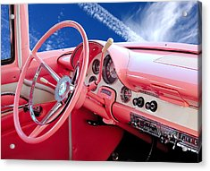 1956 Ford Crown Victoria Interior Acrylic Print