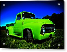 1956 Ford F-100 Pickup Truck Acrylic Print by motography aka Phil Clark
