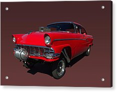 1956 Ford  Pro Street Dragster Acrylic Print by Tim McCullough