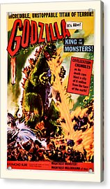 1956 Godzilla Vintage Movie Art Acrylic Print