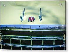 1956 Hudson Rambler Station Wagon Hood Ornament - Emblem Acrylic Print by Jill Reger