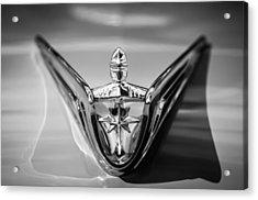 1956 Lincoln Premiere Hood Ornament -0815bw Acrylic Print