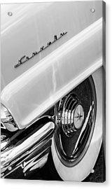 1956 Lincoln Premiere Rear Emblem  - Wheel -0828bw Acrylic Print