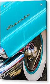 1956 Lincoln Premiere Rear Emblem  - Wheel -0828c Acrylic Print