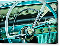 1956 Lincoln Premiere Steering Wheel -0838c Acrylic Print