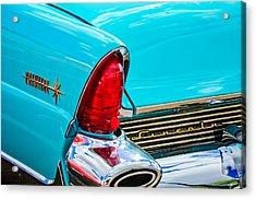 1956 Lincoln Premiere Taillight Emblem -0887c Acrylic Print