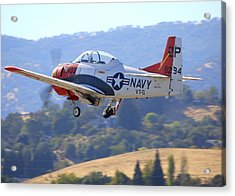 1956 North American T-28b On Climb-out N5440f Acrylic Print