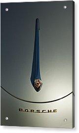 1956 Porsche 356a Hood Ornament Acrylic Print by Jill Reger