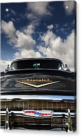 1957 Black Chevrolet Bel Air  Acrylic Print by Tim Gainey