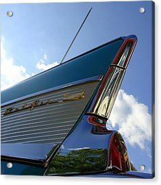 Acrylic Print featuring the photograph 1957 Chevrolet Bel Air Fin by Joseph Skompski