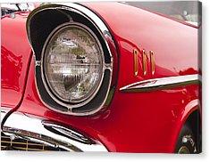 1957 Chevrolet Bel Air Headlight Acrylic Print by Glenn Gordon