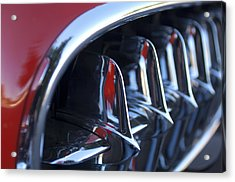 1957 Chevrolet Corvette Grille Acrylic Print by Jill Reger