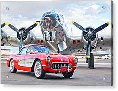 1957 Chevrolet Corvette Acrylic Print by Jill Reger