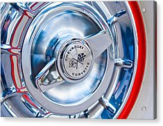1957 Chevrolet Corvette Wheel 3 Acrylic Print by Jill Reger