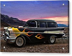 Acrylic Print featuring the photograph 1957 Chevrolet Shorty Wagon by Tim McCullough